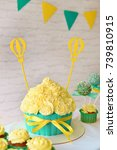 decor for a birthday party.... | Shutterstock . vector #739810915