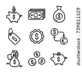 money   finance icon set | Shutterstock .eps vector #739811329