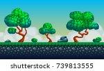 pixel art seamless background....   Shutterstock .eps vector #739813555