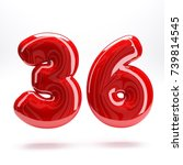 red glossy letter number ... | Shutterstock . vector #739814545