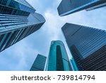 bottom view of modern... | Shutterstock . vector #739814794