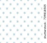 christmas new year seamless... | Shutterstock .eps vector #739818505