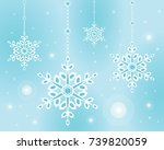 snowflake hanging from the top...