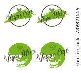 vegan menu vegan cafe vector... | Shutterstock .eps vector #739821559
