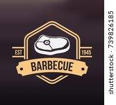 beef meat barbecue bbq...   Shutterstock .eps vector #739826185