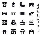 16 vector icon set   column ... | Shutterstock .eps vector #739827454