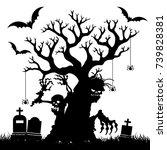 halloween  silhouette of a...   Shutterstock .eps vector #739828381