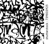 vector graffiti seamless... | Shutterstock .eps vector #739833925