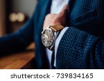 man with a watch | Shutterstock . vector #739834165