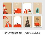 hand drawn vector abstract fun... | Shutterstock .eps vector #739836661