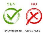 yes and no approval and... | Shutterstock .eps vector #739837651