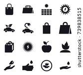 16 vector icon set   shopping... | Shutterstock .eps vector #739838515