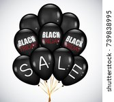 black friday sale poster with...   Shutterstock .eps vector #739838995