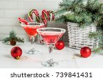 christmas drinks  pink... | Shutterstock . vector #739841431