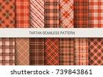 tartan seamless vector patterns ... | Shutterstock .eps vector #739843861