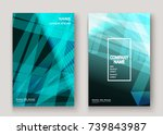 modern technology striped... | Shutterstock .eps vector #739843987