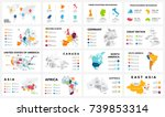 vector map infographic. slide... | Shutterstock .eps vector #739853314