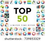 vector infographics set.... | Shutterstock .eps vector #739853329