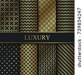 set of vector luxury patterns.... | Shutterstock .eps vector #739854247