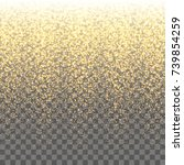 gold sparkles on the... | Shutterstock .eps vector #739854259