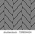 vector geometric pattern.... | Shutterstock .eps vector #739854424