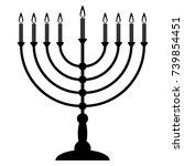 menorah for hanukkah. religion... | Shutterstock .eps vector #739854451