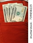 photograph of dollar notes in... | Shutterstock . vector #739858225