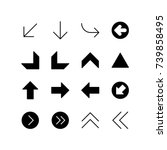 icon set of miscellaneous arrows | Shutterstock .eps vector #739858495