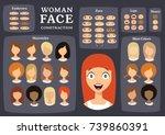 woman character constructor.... | Shutterstock .eps vector #739860391
