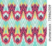 ikat seamless pattern  as cloth ...   Shutterstock . vector #739862509