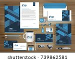 vector abstract stationery... | Shutterstock .eps vector #739862581
