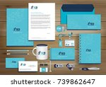 vector abstract stationery... | Shutterstock .eps vector #739862647