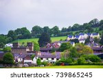 village with old houses in... | Shutterstock . vector #739865245