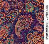 floral seamless pattern with... | Shutterstock .eps vector #739867201