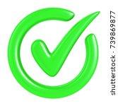 check mark isolated on white.... | Shutterstock . vector #739869877