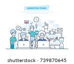 marketing teams. corporate... | Shutterstock .eps vector #739870645