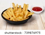 close up shot of crinkle cut... | Shutterstock . vector #739876975