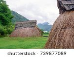 pit dwelling house | Shutterstock . vector #739877089