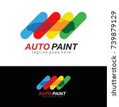 auto paint   automotive icon  ... | Shutterstock .eps vector #739879129