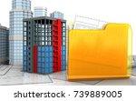 3d illustration of building
