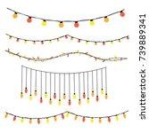 vector christmas holiday... | Shutterstock .eps vector #739889341