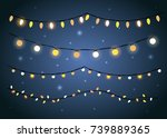 vector christmas holiday... | Shutterstock .eps vector #739889365