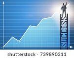 businessman in economic... | Shutterstock . vector #739890211