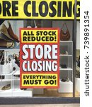 closing down sign in a shop...