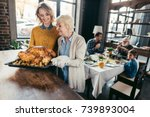 senior mother and daughter with ... | Shutterstock . vector #739893004