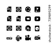 miscellaneous icon set of... | Shutterstock .eps vector #739895299