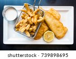 british traditional fish and...   Shutterstock . vector #739898695