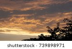 cloudy dusk | Shutterstock . vector #739898971