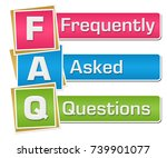 faq   frequently asked... | Shutterstock . vector #739901077