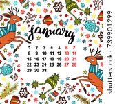 calendar. month. abstract... | Shutterstock .eps vector #739901299